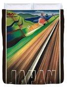 Vintage Japanese Government Railways Poster Duvet Cover
