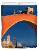 Vintage Mediterranean Travel Poster Duvet Cover