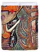 Vintage Mermaid And Wisdom Coral Angel Duvet Cover