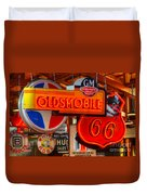 Vintage Neon Sign Oldsmobile Duvet Cover