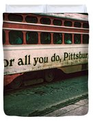 Vintage Pittsburgh Trolly Duvet Cover