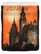 Vintage Poland Travel Poster Duvet Cover