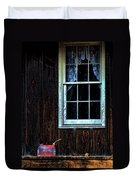 Vintage Porch Window And Gas Can Duvet Cover