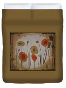 Vintage Red Poppies Painting Duvet Cover