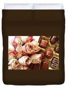 Vintage Roses And Chocolates Painterly Duvet Cover