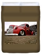 Vintage Style Hot Rod Truck Duvet Cover