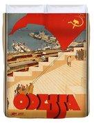 Vintage Ukraine Travel Poster Duvet Cover