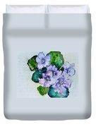 Violet Cluster Duvet Cover