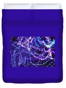Violet Neon Lights Duvet Cover