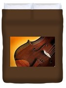 Violin Isolated On Gold Duvet Cover