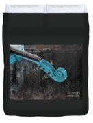Violinelle - Turquoise 05a2 Duvet Cover