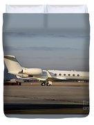 Vip Jet C-37a Of Supreme Headquarters Duvet Cover by Timm Ziegenthaler