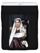 Virgin Mary And Baby Jesus At 4th Annual Christmas March Duvet Cover