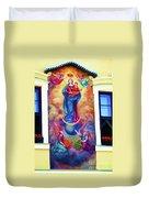 Virgin Mary Mural Duvet Cover