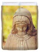 Virgin Mary Statue Duvet Cover