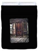 Virginia City Ghost Town Door I Duvet Cover