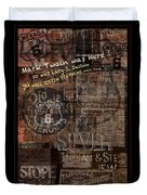 Virginia City Nevada Grunge Poster Duvet Cover