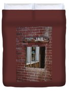 Virginia City Nevada Jail Duvet Cover
