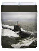 Virginia-class Attack Submarine Duvet Cover by Stocktrek Images
