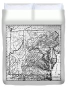 Virginia: Map, C1784 Duvet Cover