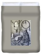 Visions Of Stimus The Cat Duvet Cover