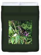 Visit From A Black Swallowtail Duvet Cover