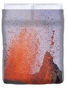 Volcanic Eruption, Spatter Cone Duvet Cover
