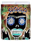 Voodoo Queen Sugar Skull Angel Duvet Cover