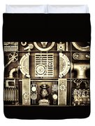 Vulcan Steel  Steampunk Metalworks Duvet Cover