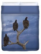 Vultures Perched On A Branch No.0022 Duvet Cover