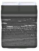 Wading Birds In Flight V4 Duvet Cover