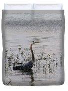 Wading Blue Heron - Ardea Herodias Duvet Cover