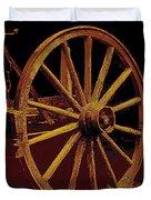 Wagon Wheel In Sepia Duvet Cover