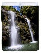 Waikani Falls And Pond Duvet Cover