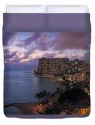 Waikiki At Night Duvet Cover