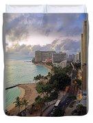 Waikiki At Twilight Duvet Cover