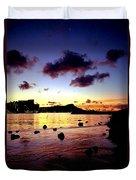 Waikiki Lagoon Dawn Duvet Cover