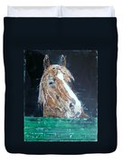 Waiting - Horse Portrait Duvet Cover