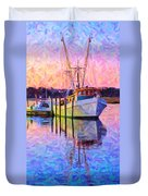 Waiting In The Harbor Duvet Cover