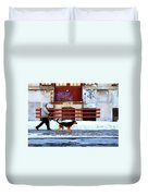 Walk On The Cold Side Duvet Cover