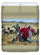 Walk Through The Highlands. Republic Of Bolivia.  Duvet Cover