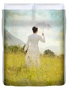 Walking On The Meadow Duvet Cover