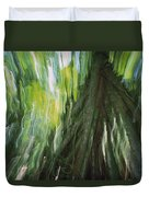 Walking Palm Tree Abstract Duvet Cover