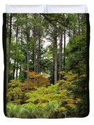 Walking Through An Autumn Garden Duvet Cover