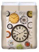 Wall Clocks Duvet Cover