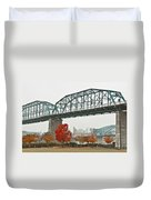 Walnut Street Bridge Duvet Cover by Tom and Pat Cory