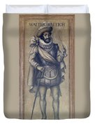 Walter Raleigh, English Explorer Duvet Cover by Photo Researchers