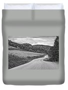 Wandering In West Virginia Monochrome Duvet Cover