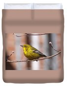 Warbler - Pine Warbler - Oh So Yellow Duvet Cover