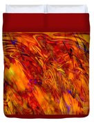Warmth And Charm - Abstract Art Duvet Cover